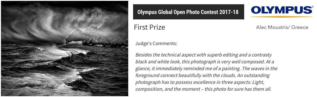 Olympus Global Open Photo Contest 2017-18 - First Prize Award - Category: ART